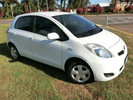 2009 Toyota Yaris NCP90R MY09 YR White 4 Speed Automatic Hatchback Townsville 4810 Townsville City Preview