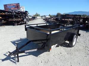 NEW 5'x10' LANDSCAPE STEEL SIDE UTILITY TRAILER RAMP GATE 2990LB