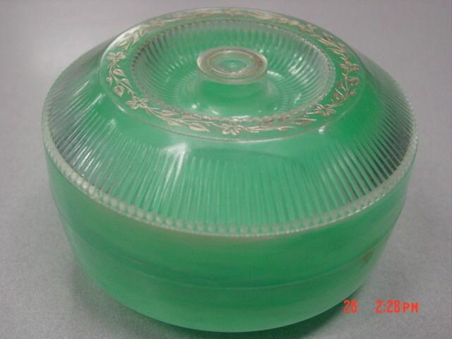 Vintage Dusting Powder Box Muguet Green Marbled No Puff Empty