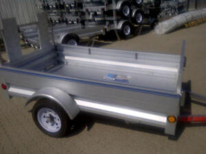 Utility Trailer 5ft x 7ft; with fold down front gate