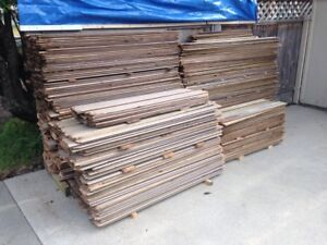 Great Variety of Weathered Cedar Fence Boards