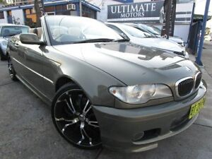 2004 BMW 330CI E46 MY2004 Steptronic Olive Gold Pearl 5 Speed Steptronic Convertible Clyde Parramatta Area Preview