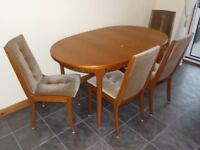 Dining Room Suite. Extension Table and 4 Chairs by 'McIntosh' furniture.