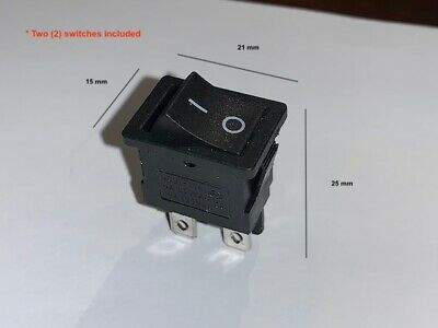 Pack Of Two 2 4-pin Dpst Onoff Rocker Switches. Subs Appliances And More