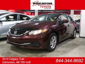 2014 Honda Civic LX, Remote Starter, Heated Seats, AUX/USB, Blue