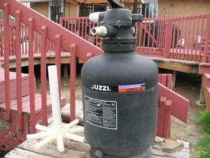 JACUZZI SAND FILTER FOR ABOVE GROUND POOL.