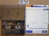 RARE TDK AD ACOUSTIC DYNAMIC 120 CASSETTE TAPES 1994-1997 WITH CLEAN CARDS & LABELS.