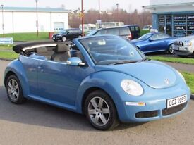 VOLKSWAGEN BEETLE 1.6 LUNA 8V 2d 101 BHP Convertible 2007 One Previo (blue) 2007