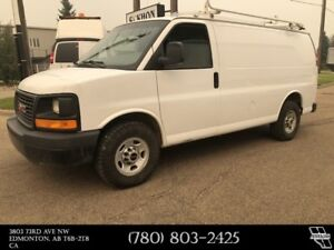 2015 GMC Savana Cargo Van 2500 Shelving & Ladder rack included