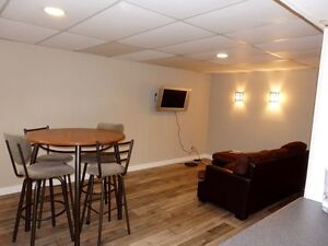 Furnished 2-bedroom basement suite, Brentwood, no lease required