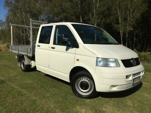 2005 Volkswagen Transporter T5 (LWB) White 5 Speed Manual Dual Cab Chassis Currumbin Waters Gold Coast South Preview