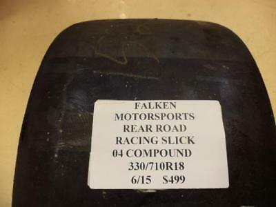 NOS FALKEN MOTORSPORTS REAR 330 710 18 ROAD RACING SLICK TIRE 04 COMPOUND NEW for sale  Park City