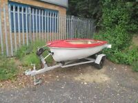 10ft fishing boat/trailer need some tlc but can still be used £250 plus an 8ft boat £100