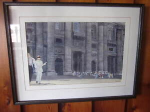 Hand Painted Framed picture of the Vatican in Rome