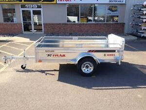 "New 2017 K-Trail 56"" x 99"" Galvanized Utility Trailer"