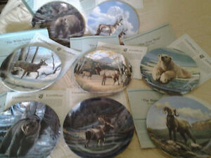 REDUCED - Collectors Bradford Plates Canada's Big Game -set of 8