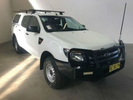 2014 Ford Ranger PX XL 3.2 (4x4) Cool White 6 Speed Manual Dual Cab Utility Westdale Tamworth City Preview