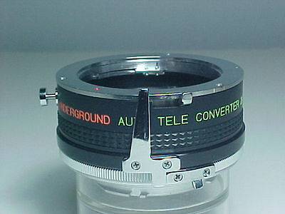 UNDERGROUND AUTO 2X TELE CONVERTER FOR LENS WITH MINOLTA MD MOUNT