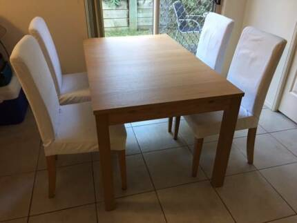4 X HENRIKSDAL IKEA Dining Chair And Cover