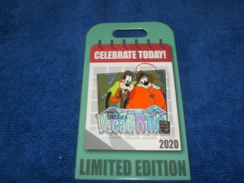 Disney Parks 2020 CELEBRATE TODAY PLAN FOR A VACATION GOOFY & MAX LE  Pin