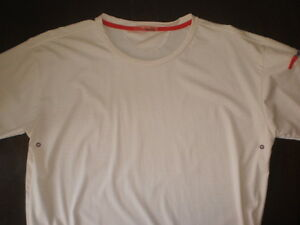 Men's PRADA Cream With Red Nylon & Spandex T-Shirt - Size L