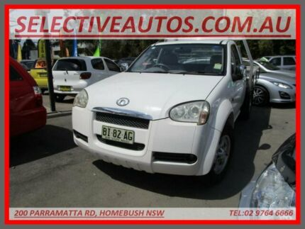 2010 Great Wall V240 K2 4x2 White 5 Speed Manual Cab Chassis