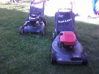"""Wanted: mtd 20"""" push mower with catcher bag"""