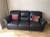 3 Genuine Leather 3 Seater Sofas
