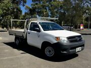 2008 Toyota Hilux TGN16R MY08 Workmate 4x2 White 5 Speed Manual Cab Chassis Mile End South West Torrens Area Preview