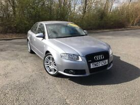 2007 AUDI A4 2.0 TFSI QUATTRO 4WD SLINE SPECIAL EDITION GREY 80,000 MILES MUST SEE £5995 OLDMELDRUM