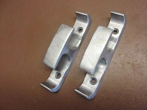 """2 Aluminum Dock Boat Rope Guides 4 3/4"""" x 3/4"""" Clean Vintage Pair LQQK FREE S/H!"""