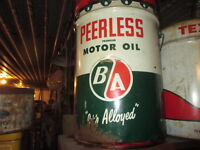 Old Gas Station collectible oil cans