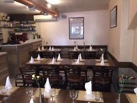 EXPERIENCED WAITER, WAITRES &HOSTESS REQUIRED FOR ITALIAN RESTAURANT