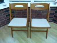 2 Folding Kitchen Garden Chairs