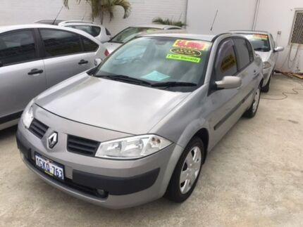 2005 Renault Megane II L84 Expression Silver 6 Speed Manual Sedan St James Victoria Park Area Preview
