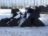 IT SNOWED!!! 8ft Snow Buckets for Skid Steers!!! Heavy Duty