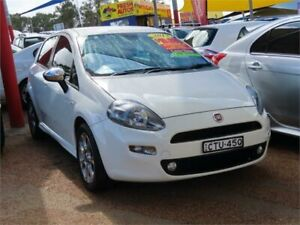 2014 Fiat Punto MY13 Lounge Dualogic White 5 Speed Sports Automatic Single Clutch Hatchback Minchinbury Blacktown Area Preview