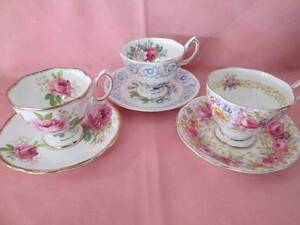 Royal Albert Demitasse Duos. American Beauty, Fragrance & Serena. Morayfield Caboolture Area Preview