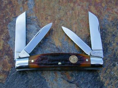 CANAL STREET CUTLERY CSC AMBER STAG BONE CONGRESS KNIFE RARE #261 OF 400 NM WOW