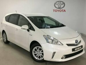 2012 Toyota Prius v ZVW40R White 1 Speed Constant Variable Wagon Hybrid Chatswood Willoughby Area Preview