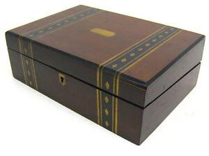Antique 11 5 victorian slope writing desk lap top wooden storage box ebay - Wood lap desk with storage ...