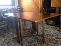 Gateleg Table. (drop leaf) Very good condition, unmarked and solid wood.