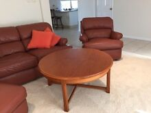 Moran leather 2 seater lounge with 2 armchairs and ottoman Pottsville Tweed Heads Area Preview