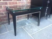 SOLID DESIGNER COFFEE TABLE - CHROME AND SUPER THICK GLASS - WAS 490
