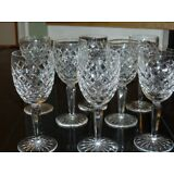 Set of 2 Waterford Crystal Comeragh Claret wine glasses~Total available Eight~