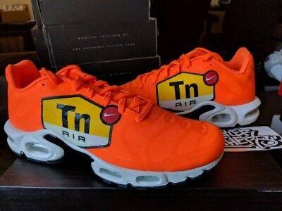 separation shoes a98c6 932fb NEW AJ7181-800 Mens Nike Air Max Plus NS GPX TN Tuned Orange Running Shoes