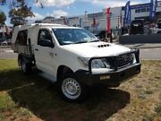 2014 Toyota Hilux KUN26R MY14 SR (4x4) White 5 Speed Manual Cab Chassis Belconnen Belconnen Area Preview