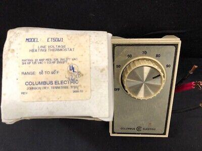 Columbus Electric Et5dw1 Line Voltage Heating Thermostat