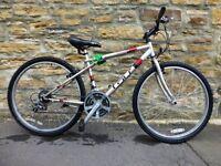 Boys Bike Silver/Red