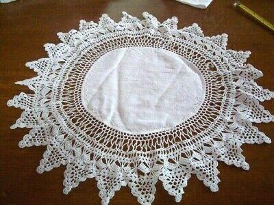 Vintage white cotton Antique Table Doilie 16